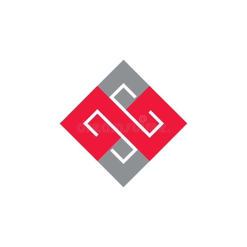 Logovektor cm des quadratischen Buchstaben geometrischer lizenzfreie abbildung