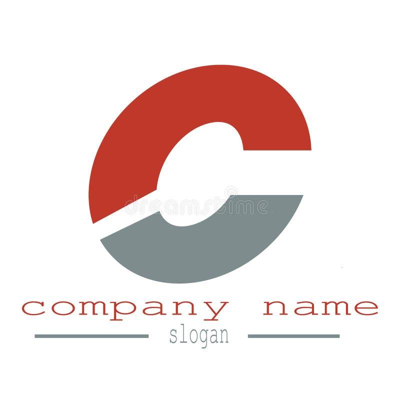 Logovektor des Buchstaben c lizenzfreie abbildung