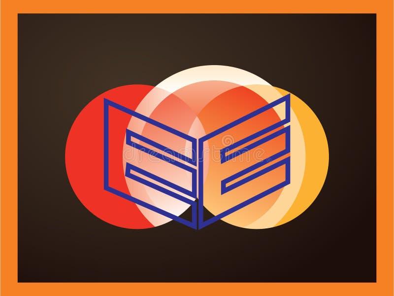 Logovektor des Buchstaben E Vector Schriftbild für Aufkleber, Schlagzeilen, Poster, Karten usw. stock abbildung