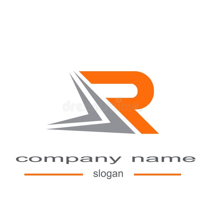 Logovektor des Buchstaben r vektor abbildung