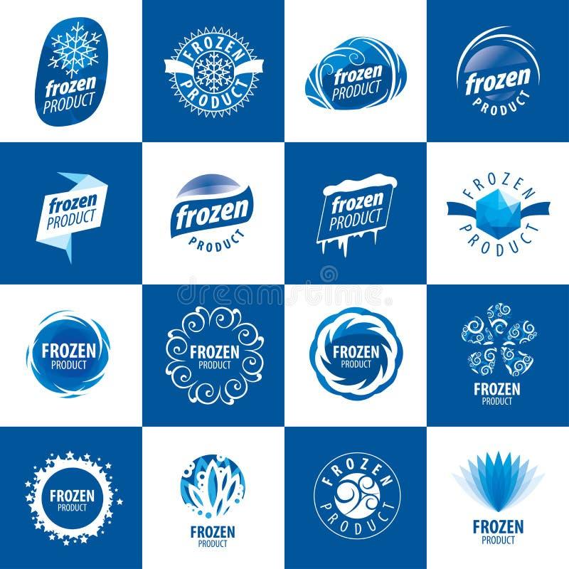 Logowie dla zamarzniętych produktów ilustracji