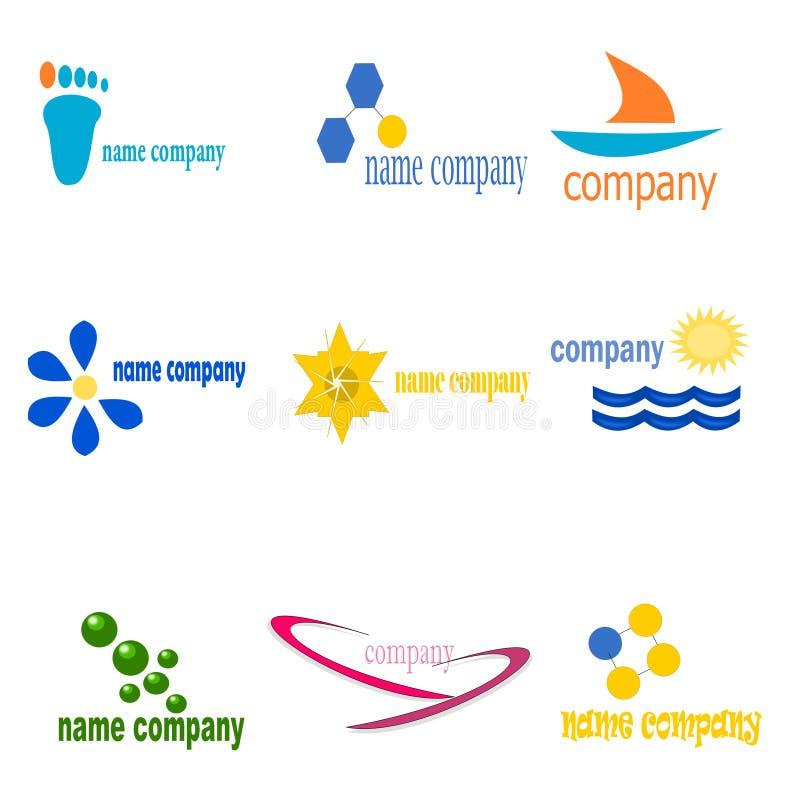 logowie dziewięć royalty ilustracja