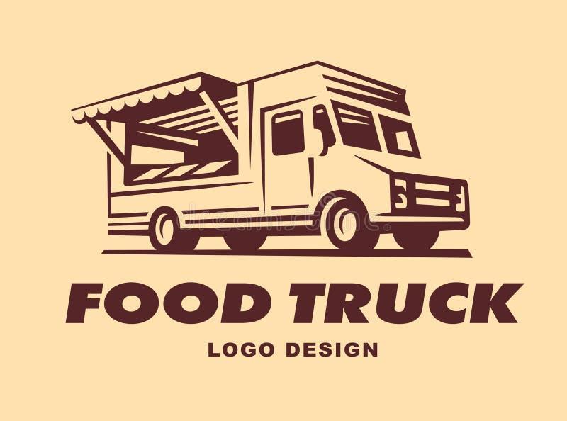Logowie jedzenie ciężarówka ilustracja wektor