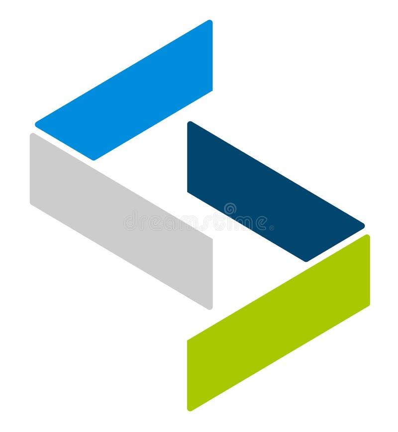 Logowie, logotypy dla różnych uses Płaski kształta loga szablon ilustracji