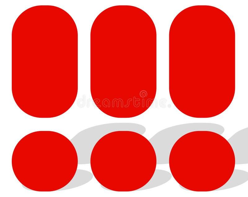 Logowie, logotypy dla różnych uses Płaski kształta loga szablon royalty ilustracja