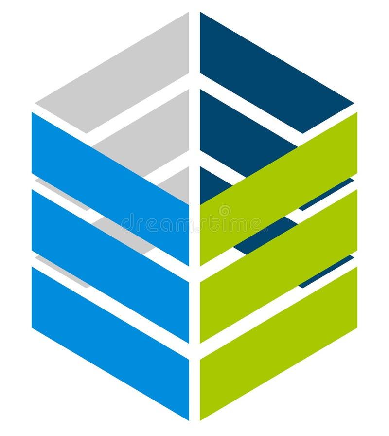 Logowie, logotypy dla różnych uses Płaski kształta loga szablon ilustracja wektor