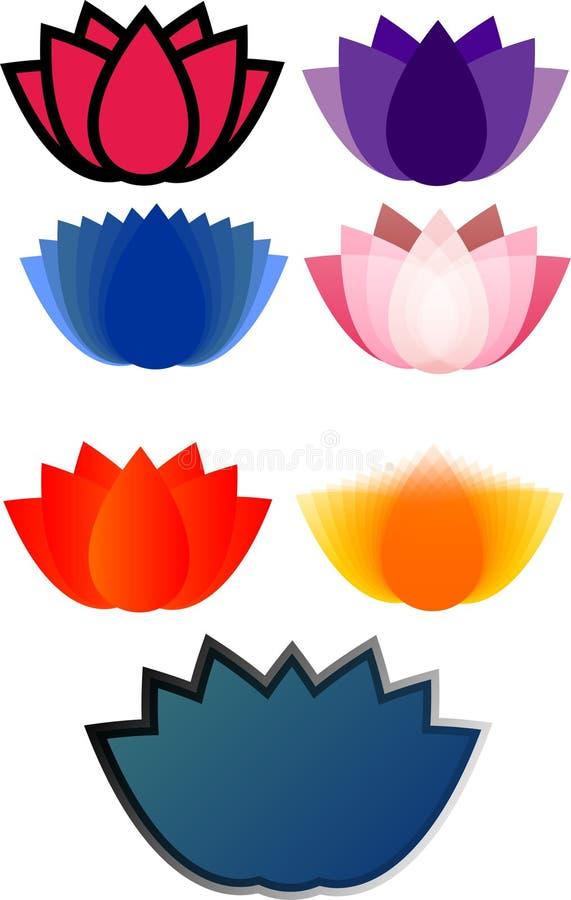 Logowie lotosowi obraz stock