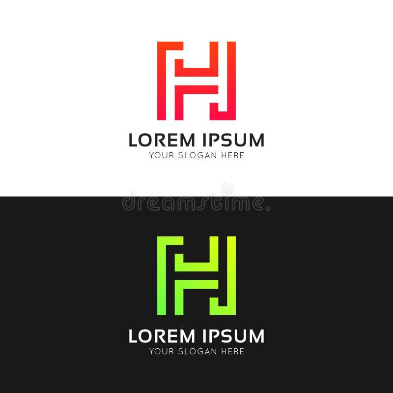 Logozeichen-Vektorikone abstrakten minimalistic h-Buchstaben saubere lizenzfreie abbildung
