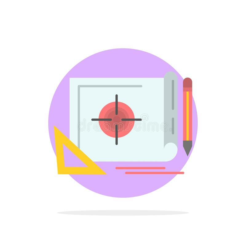 Logro, fichero, blanco del fichero, márketing, icono plano del color de fondo del círculo del extracto de la blanco libre illustration