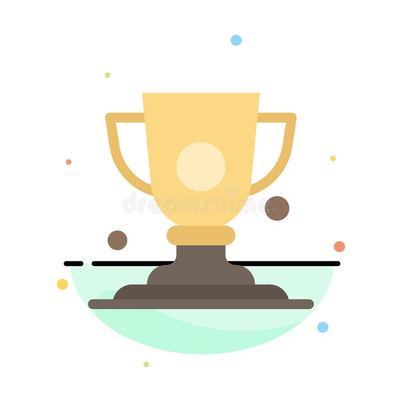 Logro, taza, premio, plantilla plana del icono del color del extracto del trofeo libre illustration