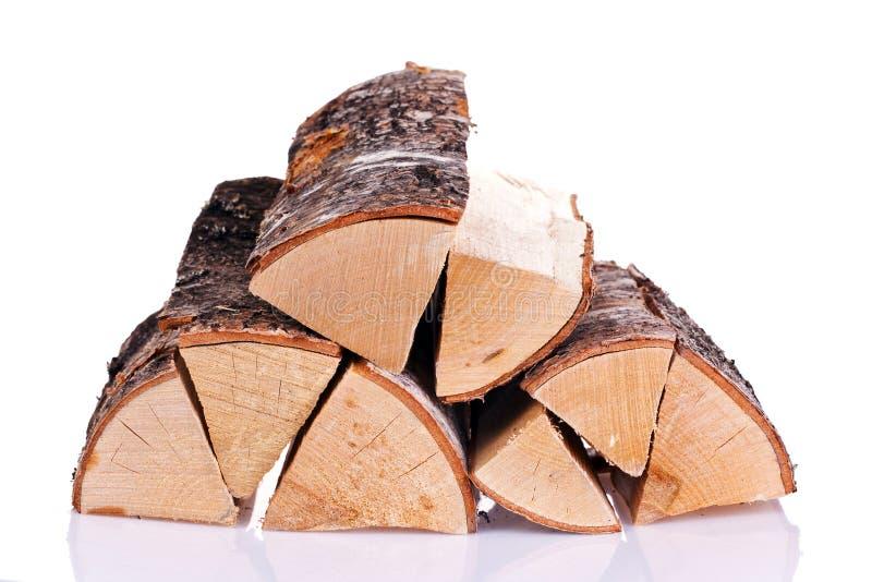 Logs. Isolated on white background stock image