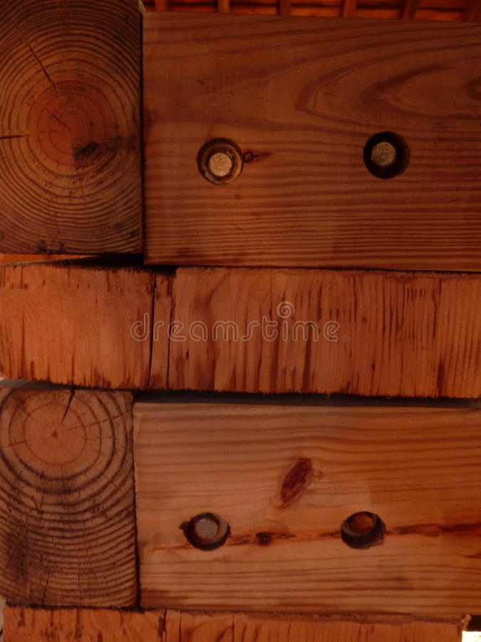 Logs and bolts stock photography