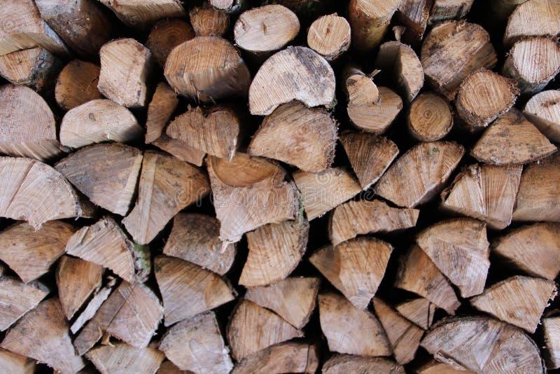 Logs da madeira do fogo fotografia de stock