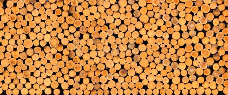 Logs empilés de bois de construction image libre de droits