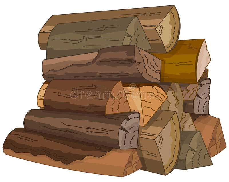 The Logs of Fire Wood royalty free illustration
