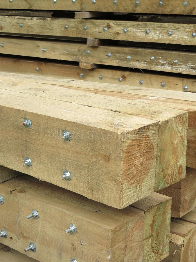 Download Logs with screws stock photo. Image of house, metallic - 26515718