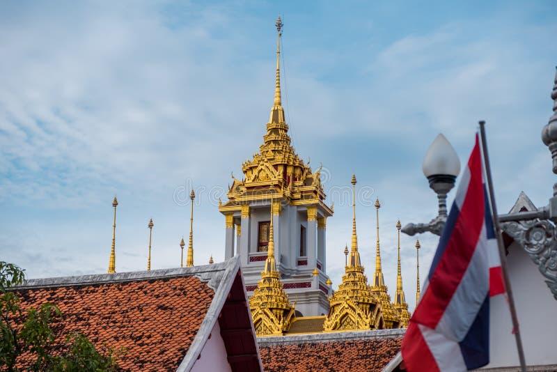Loha Prasart или замок металла на Wat Ratchanadda на Бангкоке, Таиланде стоковое фото