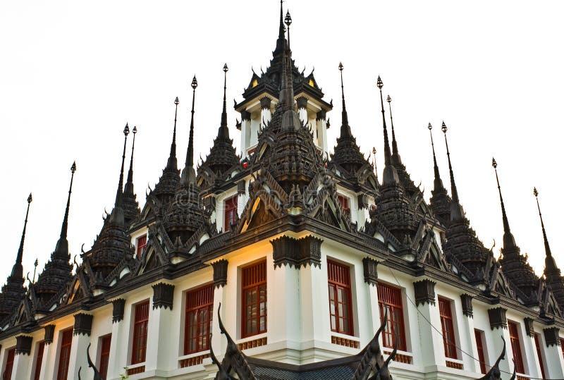 Loha Prasat Metal Palace in Bangkok stock images