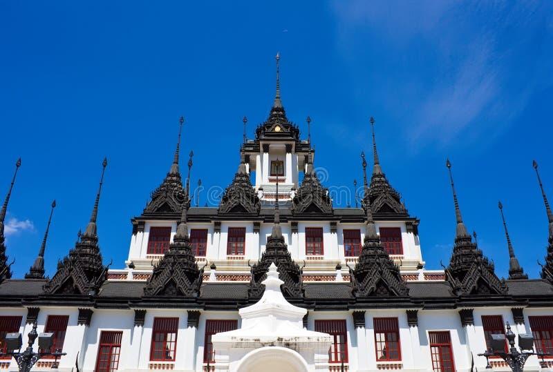 Loha Prasat Metal Palace in Bangkok Thailand stock photos