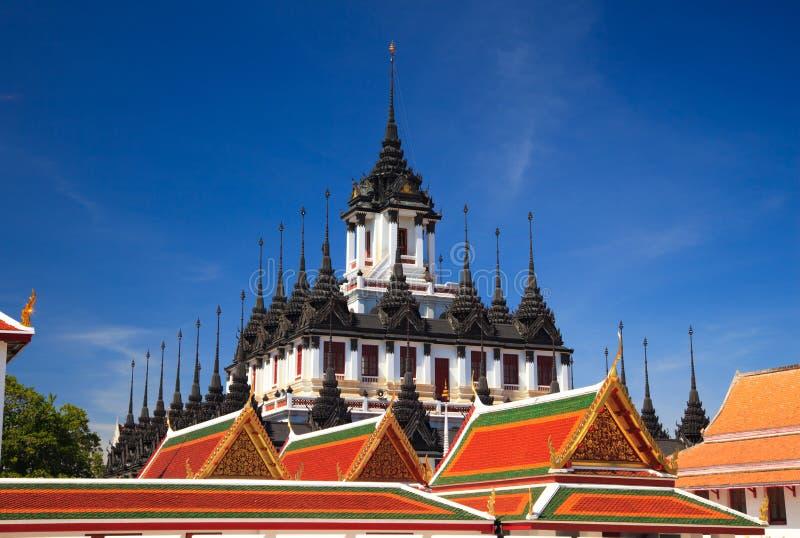 Loha Prasat, Metal palace in bangkok,Thailand stock photography