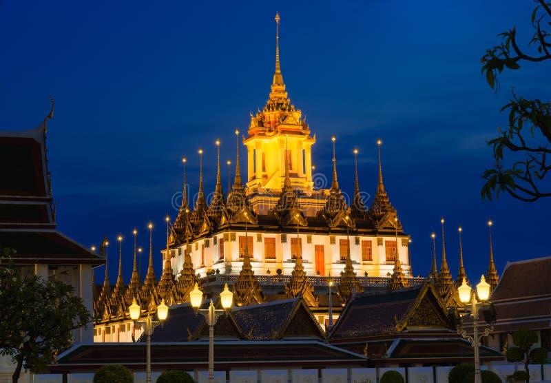 Loha Prasat Metal Palace in Wat Ratchanaddar, Bangkok, Thailand stock photo