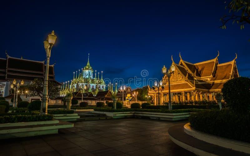 Loha Prasat Wat Ratchanatda, à Bangkok Thaïlande photographie stock