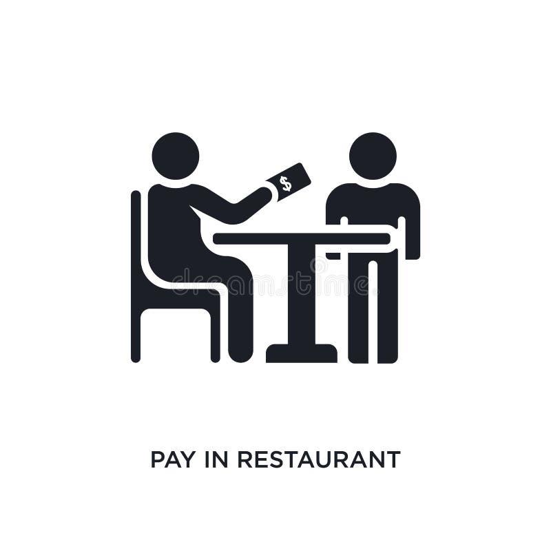 Lohn in Restaurant lokalisierter Ikone einfache Elementillustration von den Menschenkonzeptikonen Lohn im editable Logozeichen de vektor abbildung