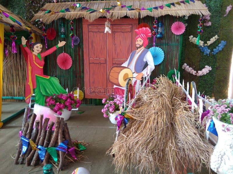 Lohri festival for Punjabi Punjabi bhangra. So beautiful cute dance stock image