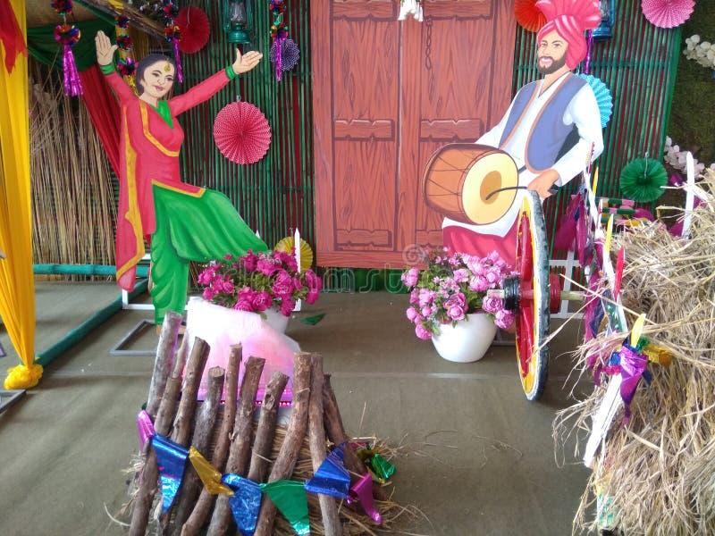 Lohri festival for Punjabi Punjabi bhangra. So beautiful cute dance stock photo