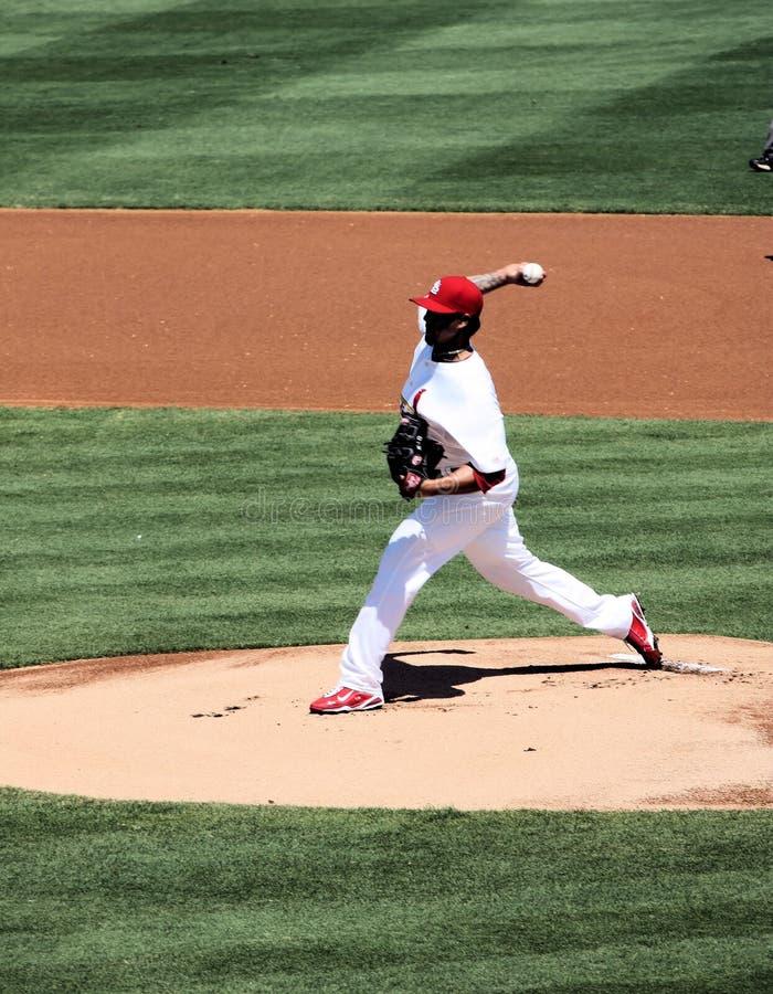 Lohse de Kyle de pichet de cardinaux de MLB St Louis photos stock