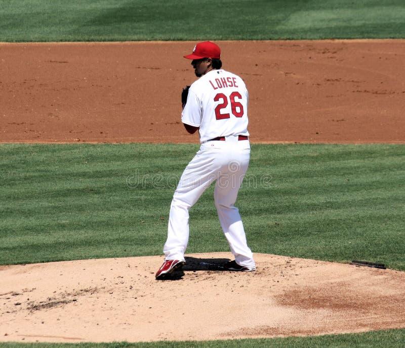 Lohse de Kyle de pichet de cardinaux de MLB St Louis photo stock