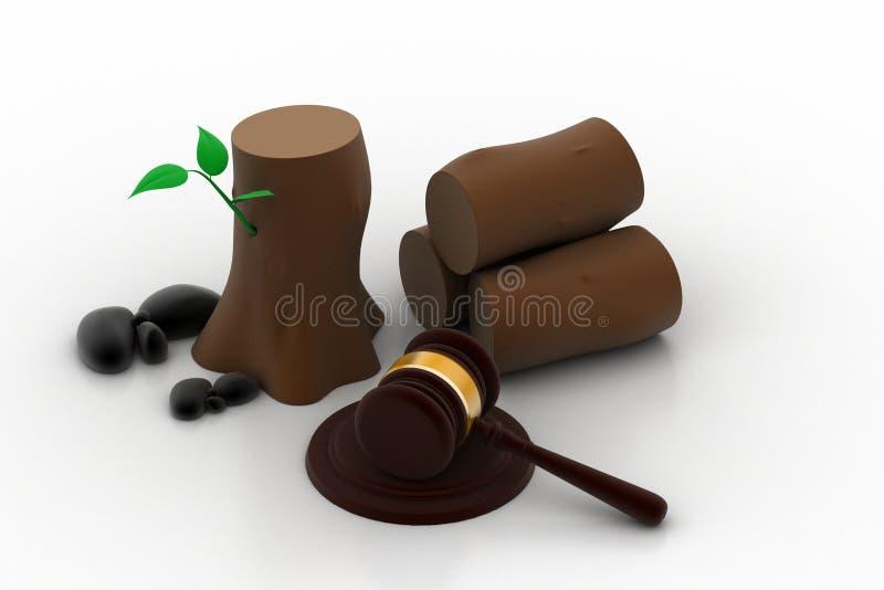 Loi contre la destruction de l'arbre illustration de vecteur