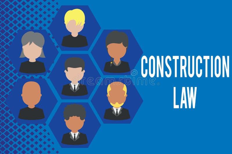 Loi de construction des textes d'?criture de Word Concept d'affaires pour des affaires avec des sujets concernant le b?timent et  illustration stock
