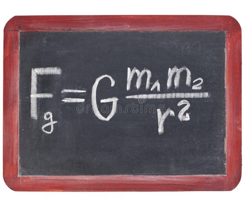 Loi de densité de Newton photos libres de droits