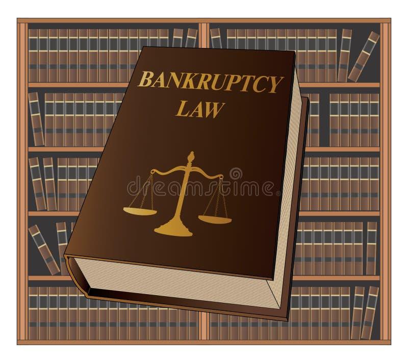 Loi de faillite illustration stock