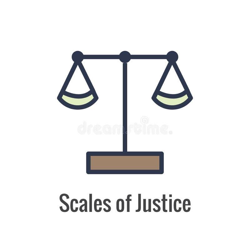 Loi et ensemble juridique d'icône avec le juge, le jury, et les icônes juridiques illustration stock