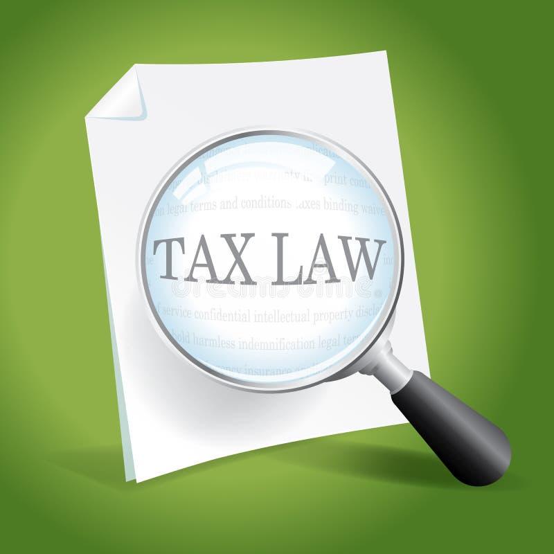 Loi fiscale de examen illustration libre de droits
