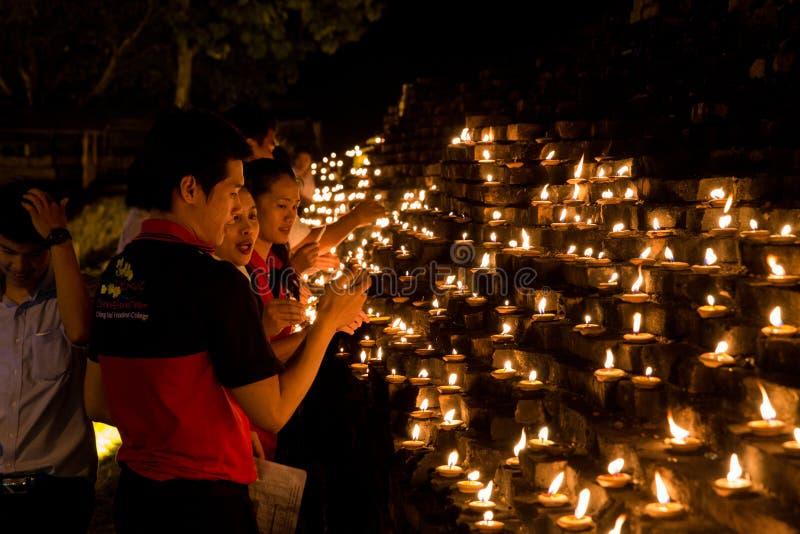 Loi Krathong 2014 festiwal w Chiang Mai, Tajlandia obraz royalty free