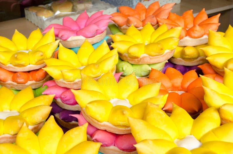 Loi Krathong rafts of bread stock photo