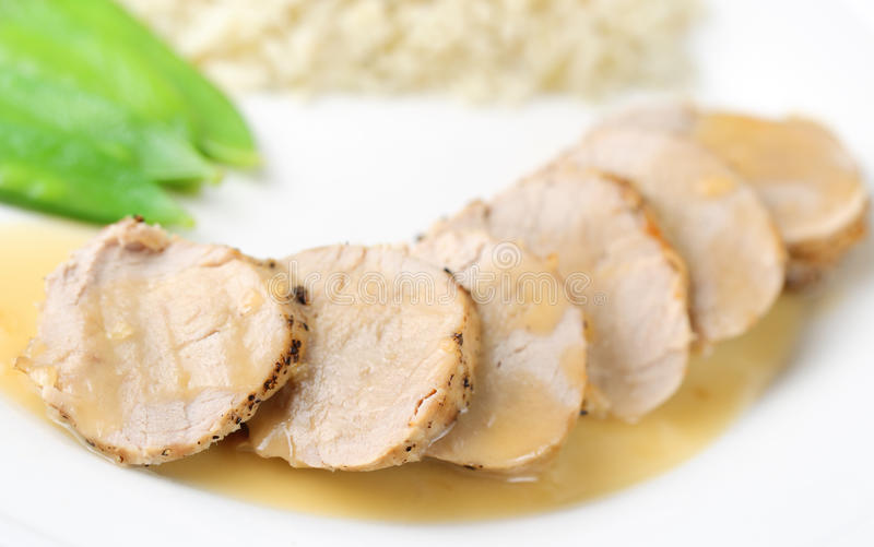 Loin of pork royalty free stock photography
