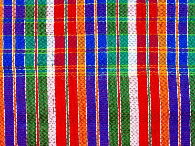 Loincloth lub Szkocka tkanka stylu tkanina jesteśmy piękni pełni kolory zdjęcie stock