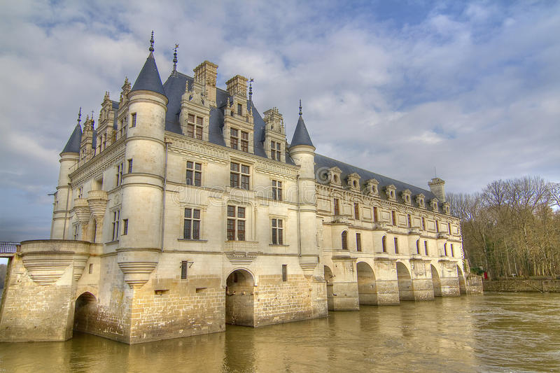 Loire Castle of Chenonceaux royalty free stock photos