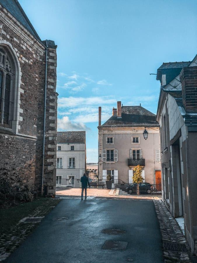 By-/Loire Valley/Chateauxde-la Loire royaltyfri bild