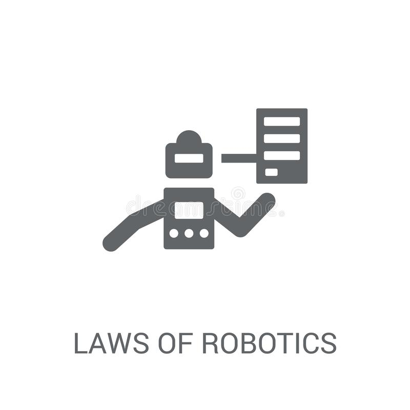 Lois d'icône de robotique  illustration stock
