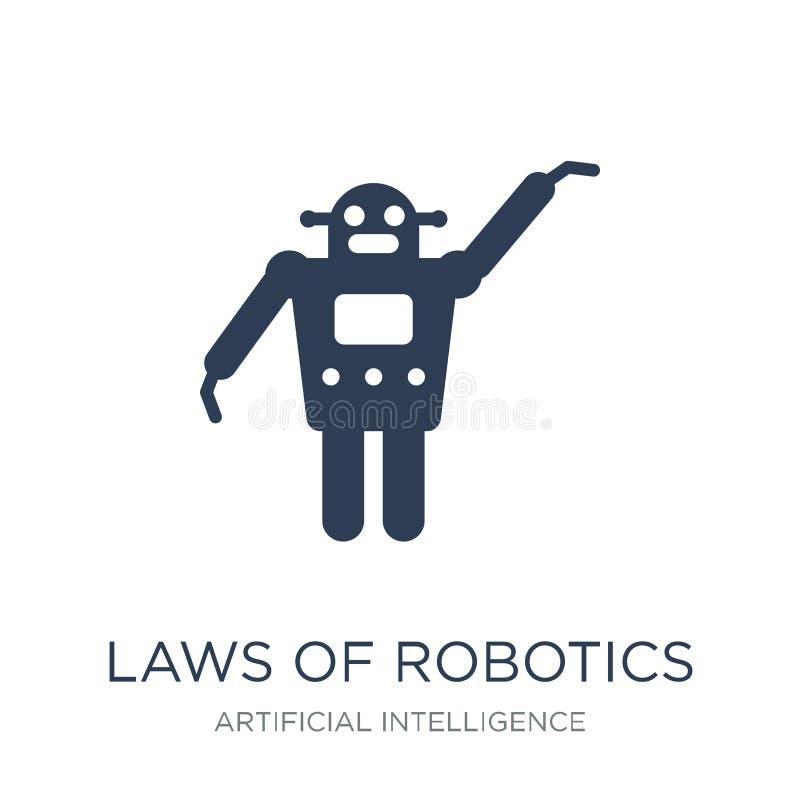 Lois d'icône de robotique Lois plates à la mode de vecteur d'icône de robotique illustration libre de droits