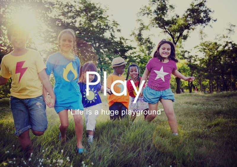 Loisir espiègle Joy Recreational Pursuit Conce d'amusement de jeu photo libre de droits