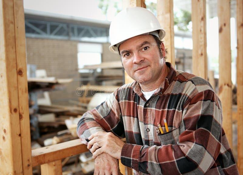 Loisirs de travailleur de la construction images stock