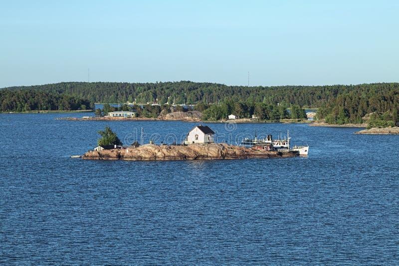 Loistokari-ön i Turku-ögruppen, Finland royaltyfria bilder