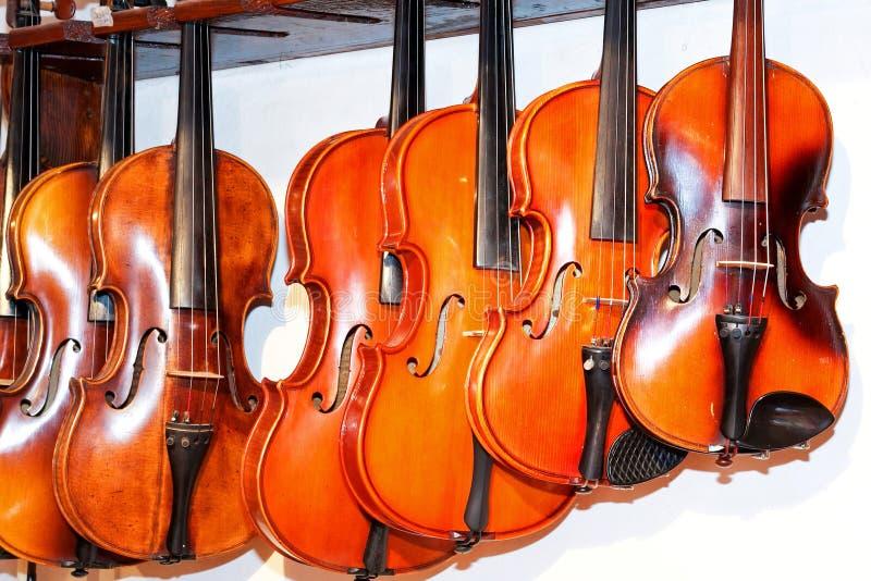 Loja 2 do violino fotografia de stock