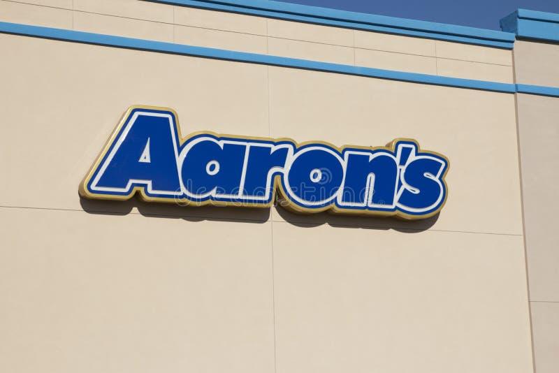 A loja alugado de Aaron foto de stock